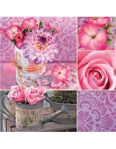 PINK FLORAL COLLAGE