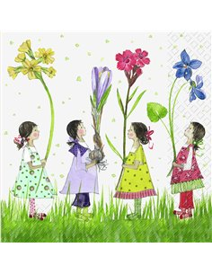 LITTLE GIRLS WITH FLOWERS