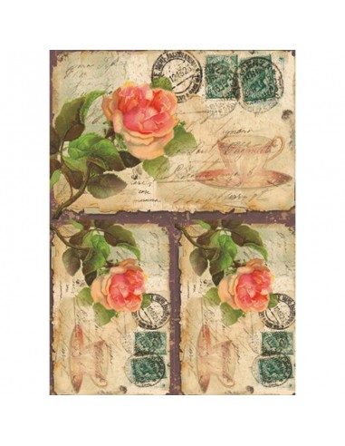 PAPEL DE ARROZ TEA ROSE