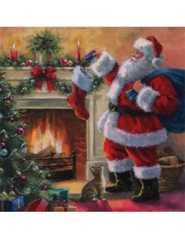 SANTA PLACING PRESENTS IN