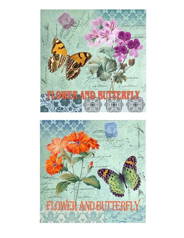 PAPEL FLOWER AND BUTTERFLY