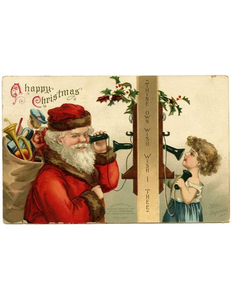 PAPEL HAPPY CHRISTMAS VINTAGE